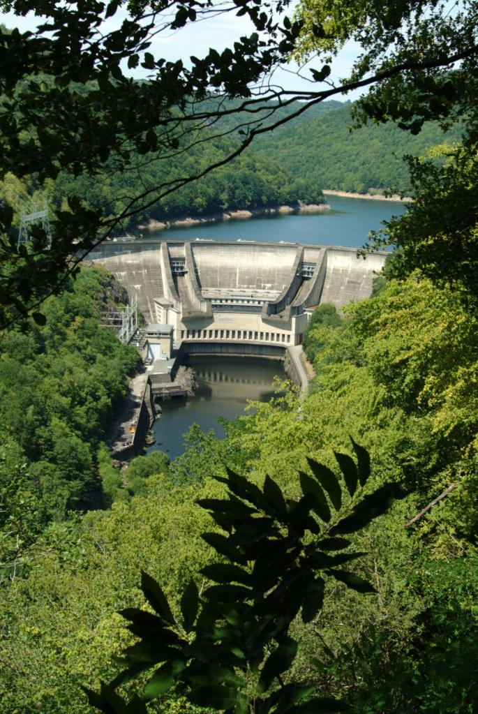 barrage EDF du Chastang - Servières le Château