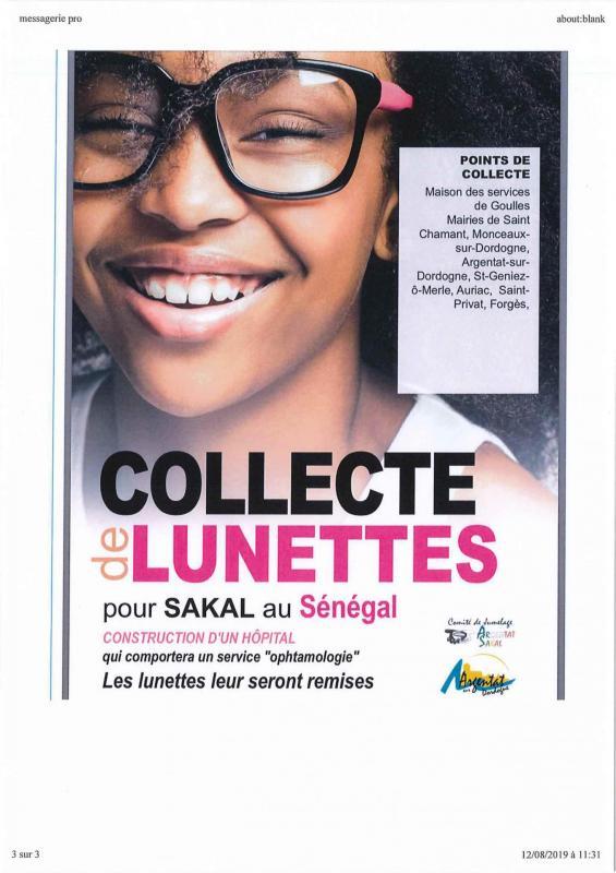 Collecte de lunettes pour le senegal
